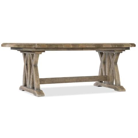 "Hooker Furniture 5750-75200 Colibri 108"" Long X Base Trestle Style - Antique Milk"