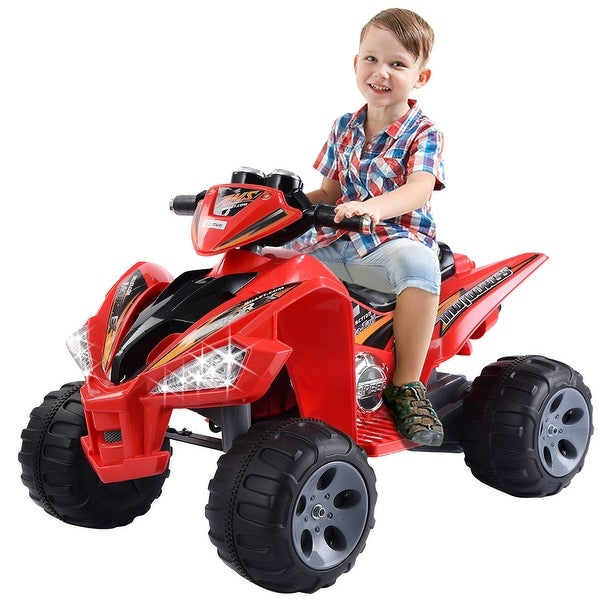 Shop Costway Kids Ride On Atv Quad 4 Wheeler Electric Toy