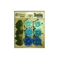Petaloo Darjeeling Garden Rosette Teal