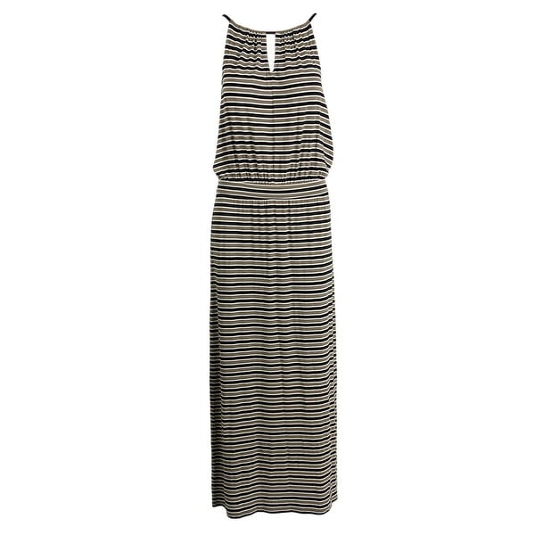 Vince Camuto Womens Maxi Dress Striped Halter