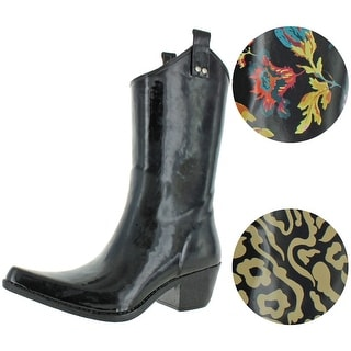Link to Nomad Women's Yippy Rubber Pattern Western Cowboy Wellie Rain Boots Similar Items in Women's Shoes