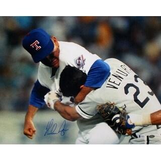 Nolan Ryan Signed Texas Rangers Ventura Fight 16x20 Photograph BAS+Ryan Holo