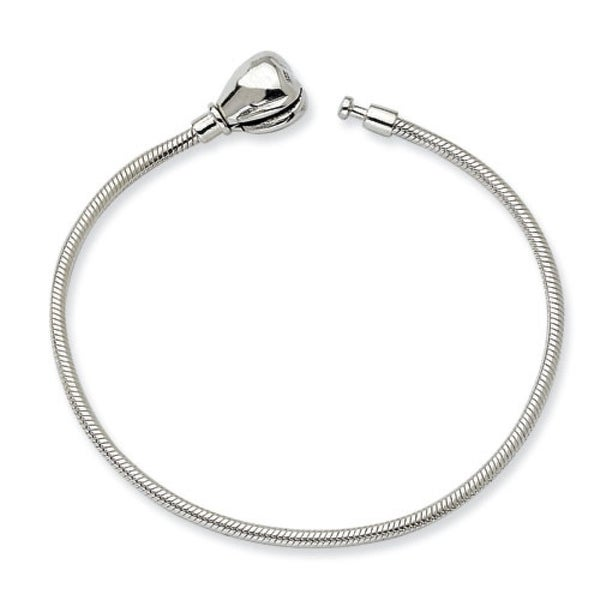 Sterling Silver Reflections 16cm Kids Hinged Clasp Bracelet (2mm) - 6.25""