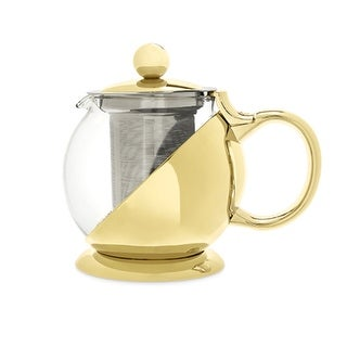 Shelby Gold Wrapped Teapot & Infuser by Pinky Up®