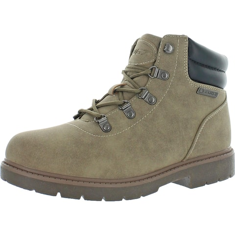 Lugz Women's Lynnwood Mid Faux Leather Mid Top Hiking Chukka Boots - Wet Sand/Nicotine Gum