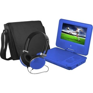 "Ematic EPD707BU Ematic EPD707 Portable DVD Player - 7"" Display - 480 x 234 - Blue - DVD-R, CD-R - JPEG - DVD Video, Video"