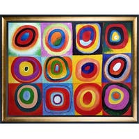 Wassily Kandinsky 'Farbstudie Quadrate' Hand Painted Oil Reproduction