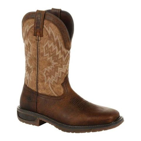 Durango Boot Men's DDB0184 WorkHorse Steel Toe Western Work Boot Distressed Sunset Brown Leather/Synthetic