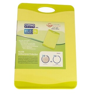 Microban Antimicrobial Cutting Board, Lime Green, 11.5X8 Inches