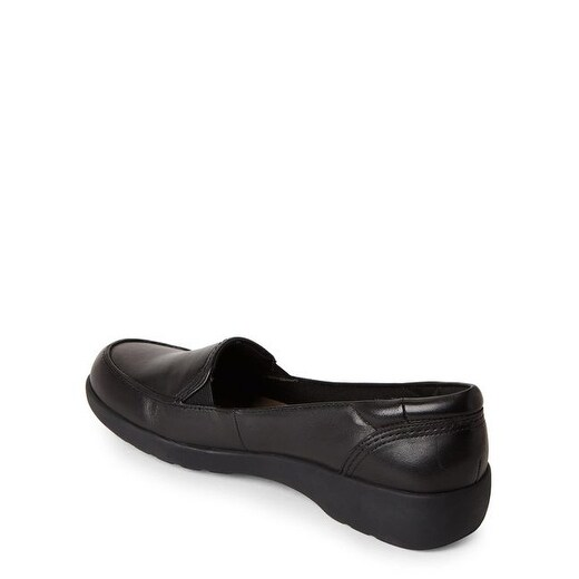 Easy Spirit Womens Sedream Leather Square Toe Loafers