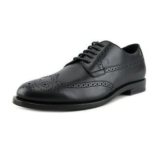 Tod's Derby Bucature Cuoio Classico SX Men Cap Toe Leather Black Oxford