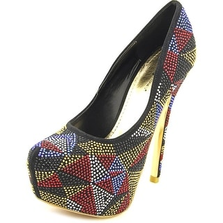 Famous Name Brand Complexity Women Open Toe Canvas Multi Color Platform Heel