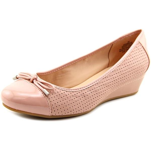 Easy Spirit Dawnette Women W Open Toe Leather Wedge Heel