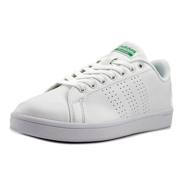 Adidas Cloudfoam Advantage Clean Women Round Toe Leather White Sneakers