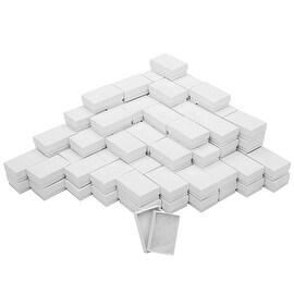 White Cardboard Jewelry Boxes With Swirls 2.5 x 1.5 x 1 Inches (100)