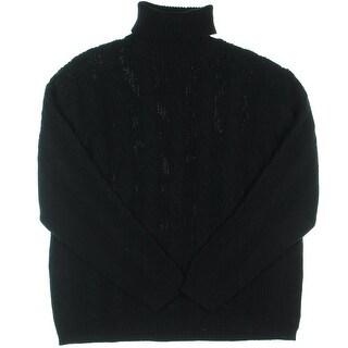 Alex Stevens Mens Cable Knit Turtleneck Pullover Sweater - XXL