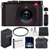 Leica Q (Typ 116) Digital Camera + Replacement Lithium Ion Battery + External Rapid Charger + 49mm UV Filter Bundle