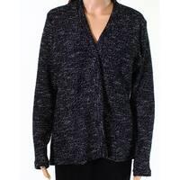 BNCI Black Womens Size Medium M Knitted Open Front Cardigan Sweater