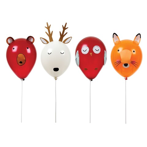 Meri Meri Balloon Animal Kit - Bear Deer Fox and Owl Forest Friends - Craft Project - multi
