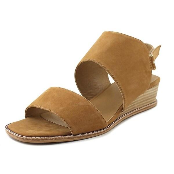 Vaneli Jack Women Open-Toe Leather Tan Slingback Sandal