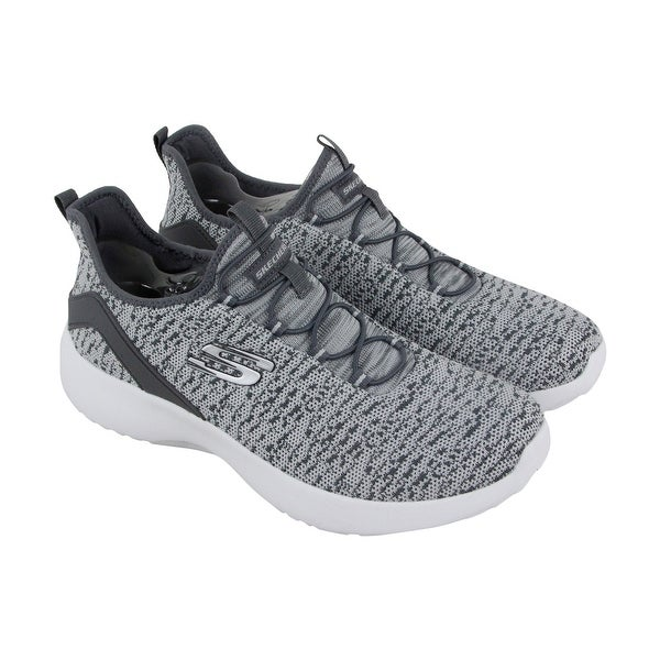 Skechers Dynamight Womens Gray Textile Athletic Slip On Training Shoes