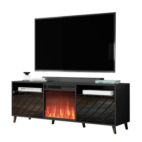 "Paris Electric Fireplace Modern 67"" TV Stand"