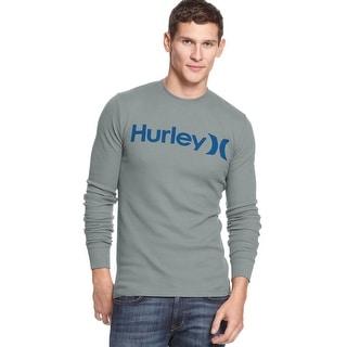 Hurley Beach Thermal Premium Fit Long Sleeve Crewneck Shirt Blue XX-Large
