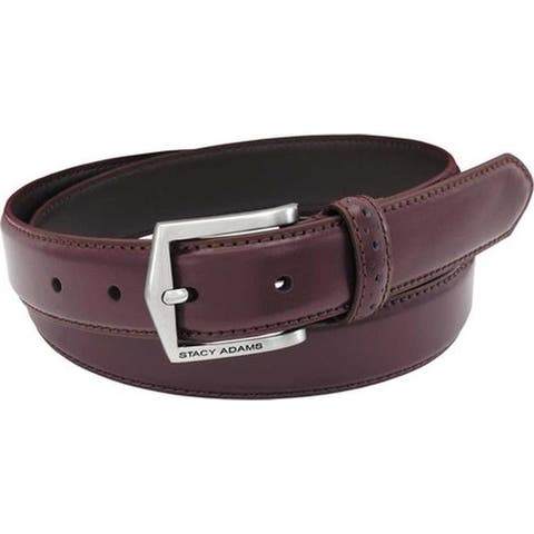 6a46a48ab Stacy Adams Men s 087 30mm Pinseal Leather Belt Cordovan