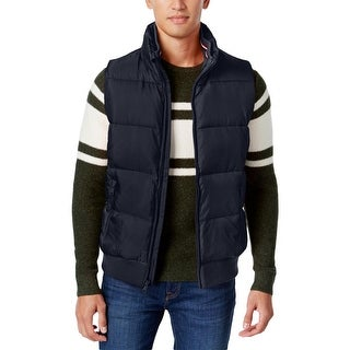 Tommy Hilfiger Mens Outerwear Vest Quilted Lined