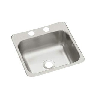 "Sterling B155-2 15"" Single Basin Drop In Stainless Steel Bar Sink with SilentShi - Stainless Steel"