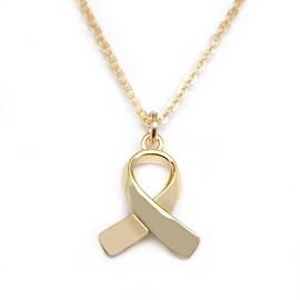 Julieta Jewelry Gold Ribbon Charm Necklace