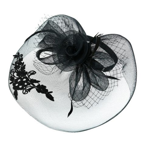 Something Special Women's Derby Fascinator with Lace Overlay