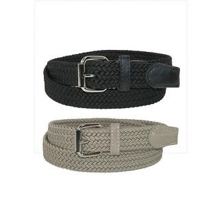 CTM® Kids' Elastic Braided Stretch Belt (Pack of 2 Colors)