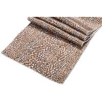 """Satin Table Runner Approx. 14""""x108"""" - Leopard"""