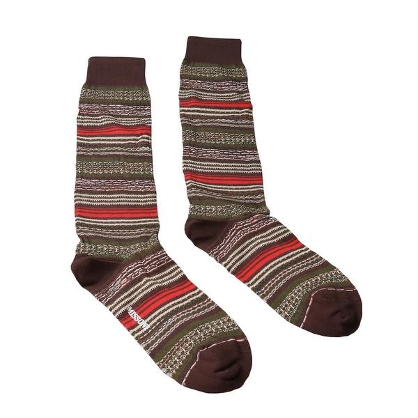 Missoni GM00CMU5236 0001 Olive/Cream Knee Length Socks