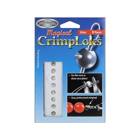 Bead Buddy Magical CrimpLoks Silver 8pc