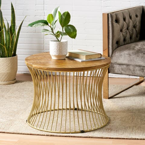 Halley Boho Mango Wood Coffee Table by Christopher Knight Home