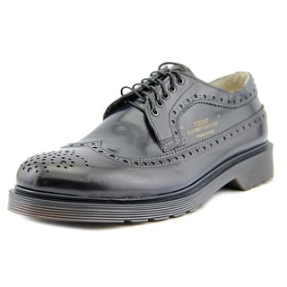 Prima3ase A25009 Men Round Toe Leather Black Oxford