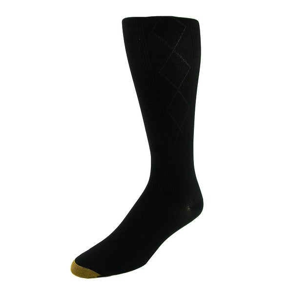 Gold Toe Men's Argyle Mild Compression Over the Calf Socks