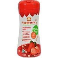 Happy Family - Organic Puffs - Strawberry ( 6 - 2.1 OZ)