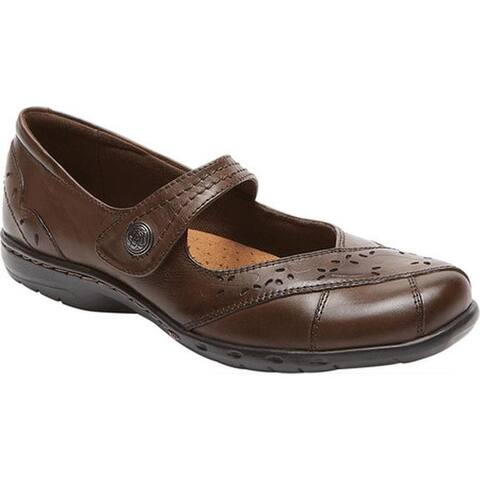 Rockport Women's Cobb Hill Petra Mary Jane Brown Leather