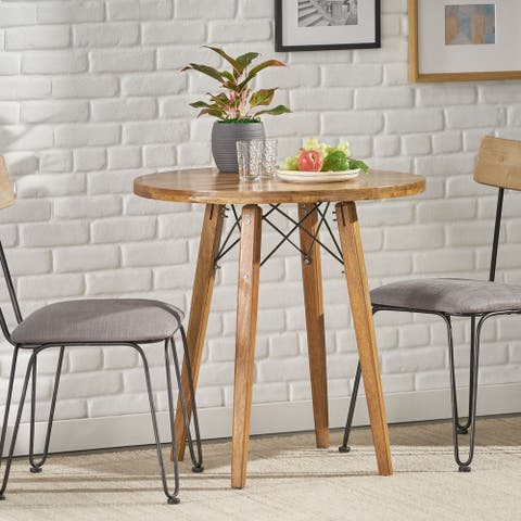 Barger Indoor Mango Wood Handcrafted Bistro Table by Christopher Knight Home