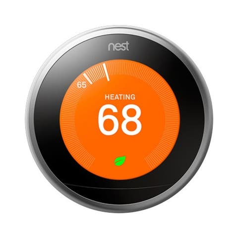 Nest Learning Thermostat (3rd Generation, Stainless Steel)
