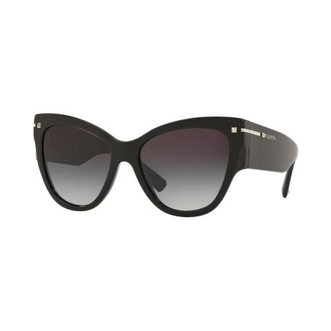 Valentino VA4028 50018G 55 Black Woman Cat Eye Sunglasses