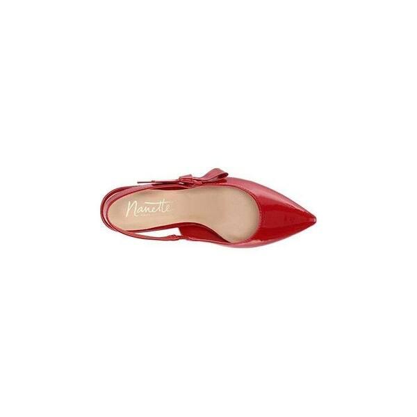 Nanette Lepore Womens Rhona Pointed Toe Slingback Classic Pumps,