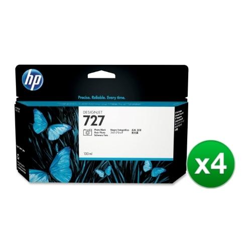 HP 727 130-ml Photo Black DesignJet Ink Cartridge (B3P23A) (4-Pack)