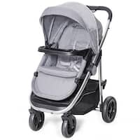 Costway Aluminum Lightweight Foldable Baby Stroller Newborn Infant Kids Travel Pushchair - Gray