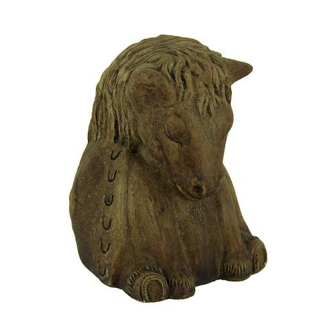 Designer Stone Driftwood Gray Zen Horse Concrete Statue - 5.75 X 4 X 4 inches