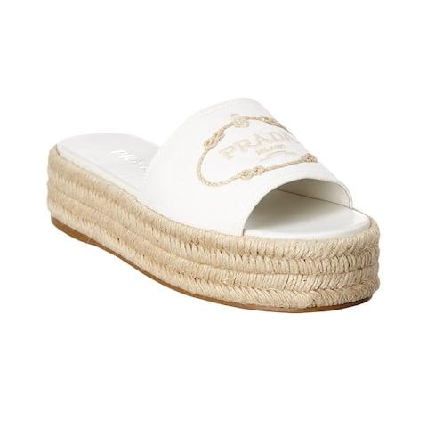 Prada Canvas Platform Sandal