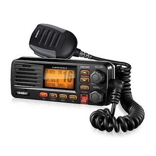 Uniden UM 380 Black Fixed Mount VHF Marine Radio With Weather Alert